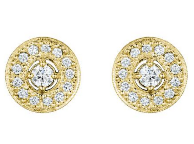 Penny Preville 18k Yellow Gold and Large Diamond Studs