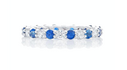 JB Star Platinum Sapphire and Diamond Eternity Band