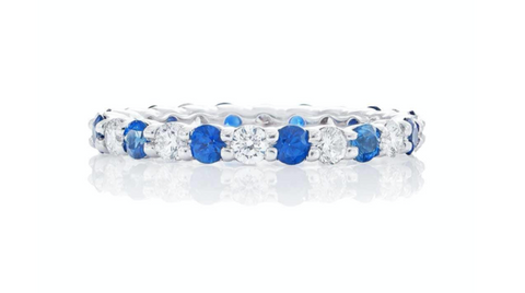 JB Star Sapphire and Diamond Eternity Band