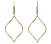 Penny Preville 18k Yellow Gold and Diamond Drop Earrings