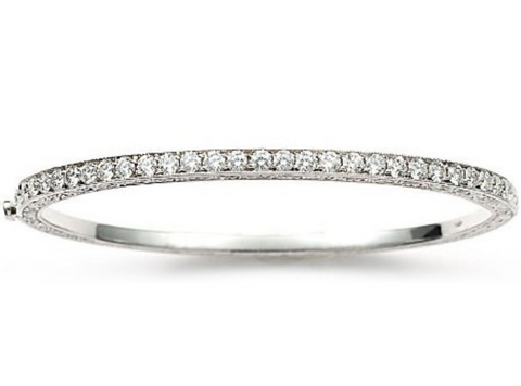 Penny Preville 18k White Gold Diamond Bangle
