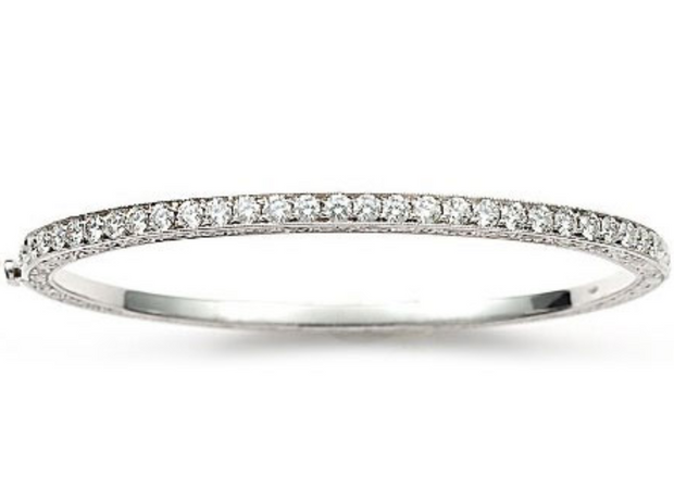 Penny Preville 18k White Gold and Diamond Bangle