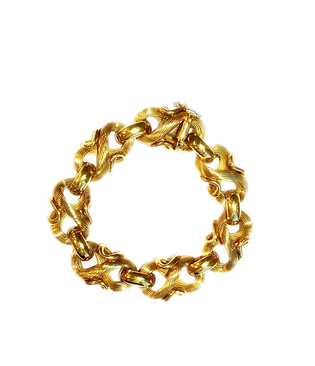 Estate 18k Yellow Gold Bracelet