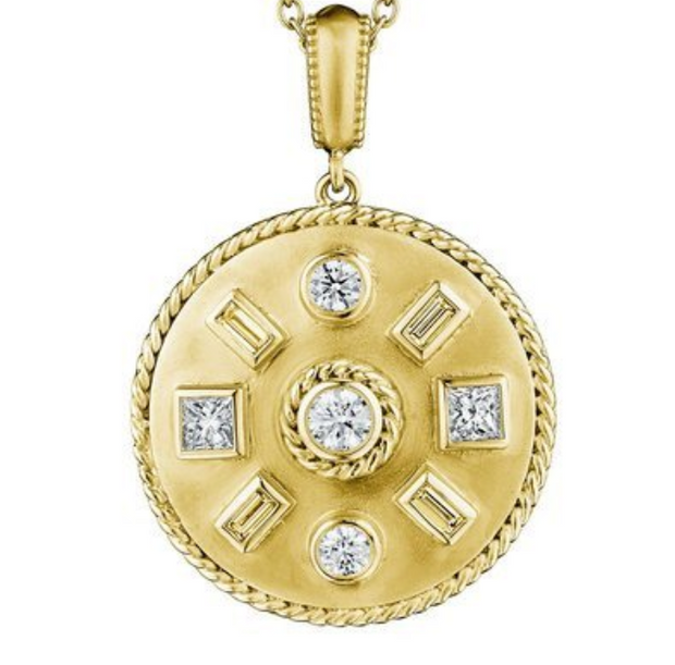 Penny Preville 18k Yellow Gold Round Diamond Enhancer