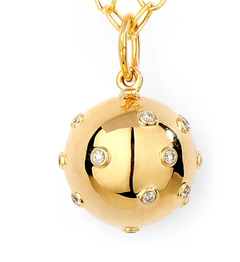 Syna 18k Yellow Gold Diamond Ball Charm