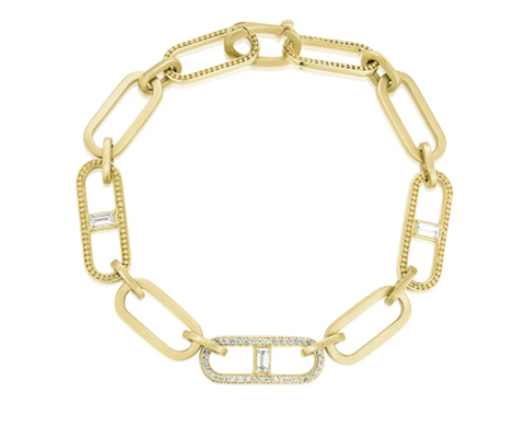 Penny Preville 18k Yellow Gold Diamond Link Bracelet