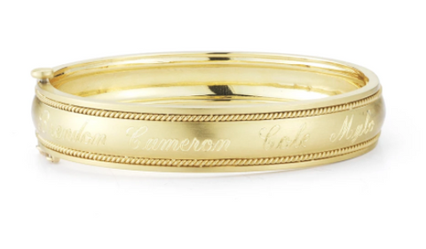 Penny Preville 18k Yellow Gold Engravable Bangle