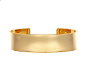 14k Yellow Gold Polished Cuff