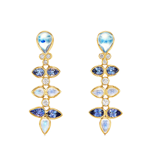 Temple St. Clair 18k Yellow Gold Foglia Drops