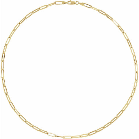 14k Yellow Gold Flat Link Chain