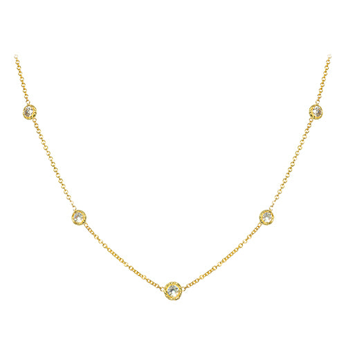 LPL Signature Collection 18k Yellow Gold Twist Bezel Diamond by the Yard