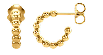 14k Yellow Gold Huggies