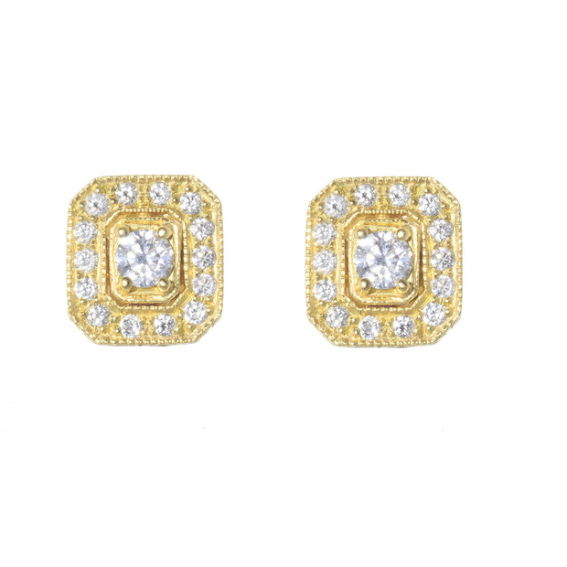 Penny Preville 18k Yellow Gold Diamond Studs