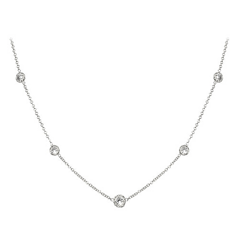 LPL Signature Collection Platinum Twist Bezel Diamond by the Yard