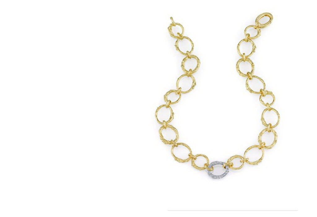 Aaron Henry 19 KT Yellow Gold Arbor Branch Diamond Necklace