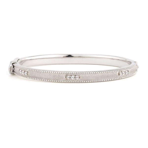 Jude Frances Silver Simple Lisse Bangle