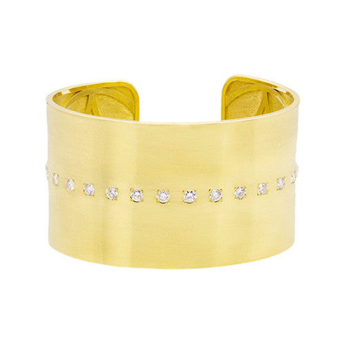 "LPL Signature Collection ""The Cary"" 18kt Yellow Gold and Diamond Cuff"