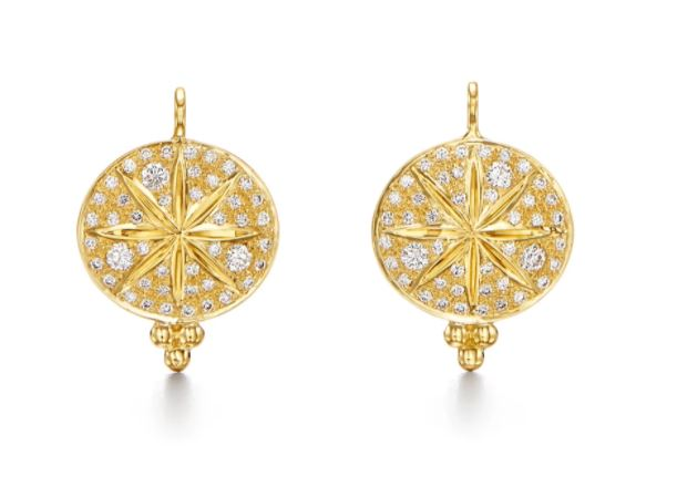 Temple St. Clair 18k Yellow Gold Diamond Sorcerer Earrings