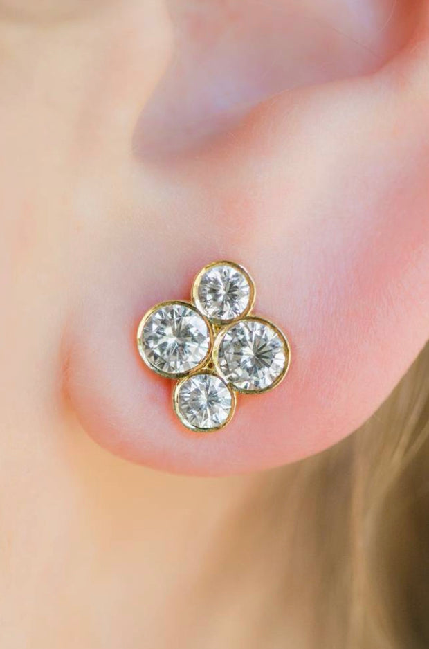 "LPL Signature Collection 18k Yellow Gold Diamond ""Anderson"" Studs"
