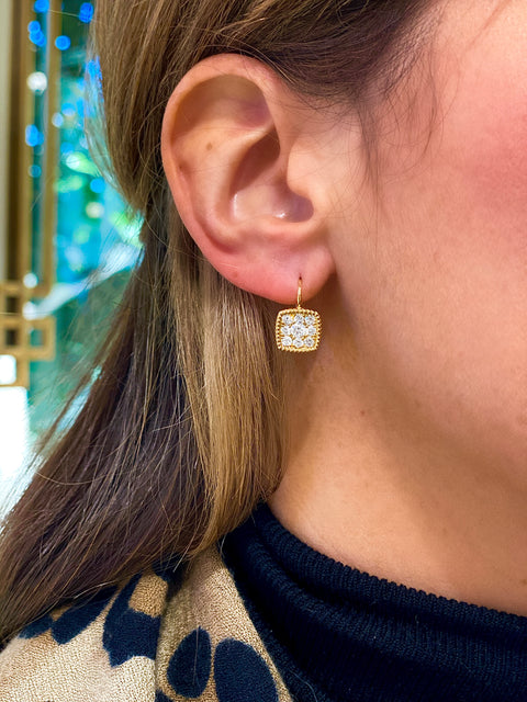18k Yellow Gold Diamond Drops