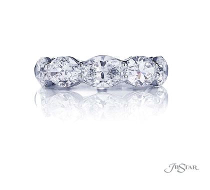 JB Star Oval Diamond Band