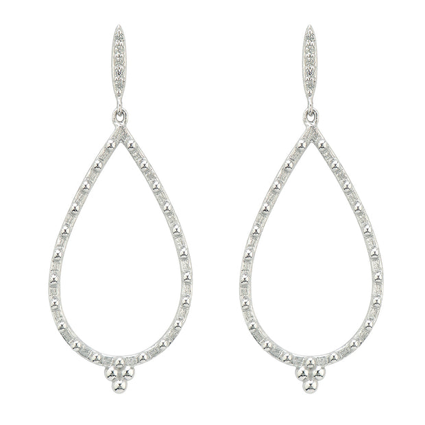 Jude Frances Sterling Silver Pear Shape Drops