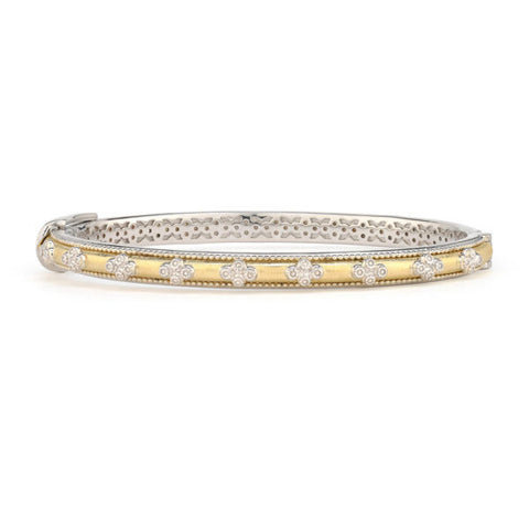 18k Yellow Gold & Sterling Silver Provence Bangle