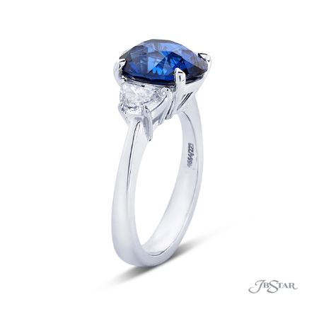 JB Star Oval Sapphire and Diamond Ring