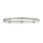 Jude Frances Sterling Silver Trio Bangle with White Topaz