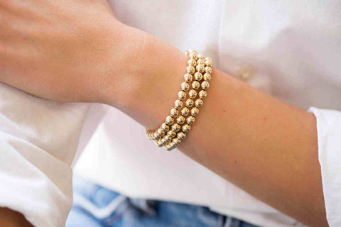 Zoe Lev 14k Yellow Gold 5mm Bead Bracelet