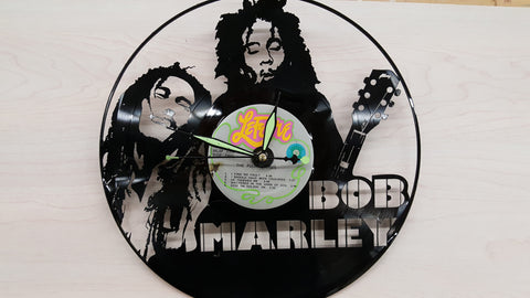 Bob Marley, Vinyl Record Clock - Custom Orders Accepted! - Socially Creative