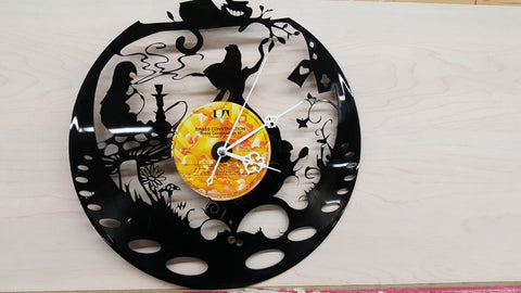 Alice in Wonderland #1, Vinyl Record Clock - Custom Orders Accepted! - Socially Creative