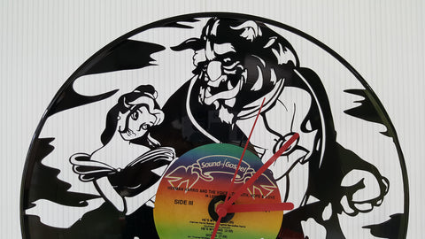 Beauty And The Beast Vinyl Record Clock - Custom Orders Accepted!