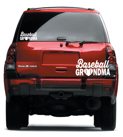 Baseball Grandma Decal (DELIVERED FREE) Baseball Mom