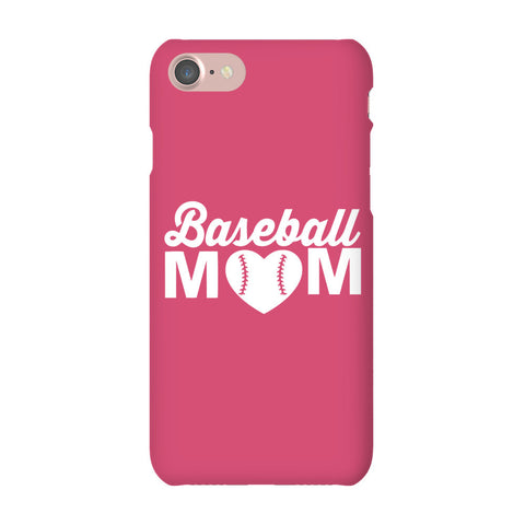 iPhone 7  Snap Case Gloss Baseball Mom Phone Case is Here