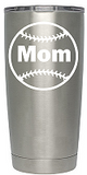 Baseball Mom Rambler Decal (Name and Number is available with additional Purchase)