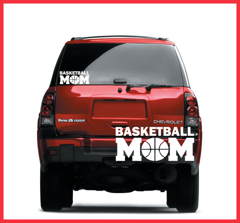 Basketball Mom Decal  (DELIVERED FREE)