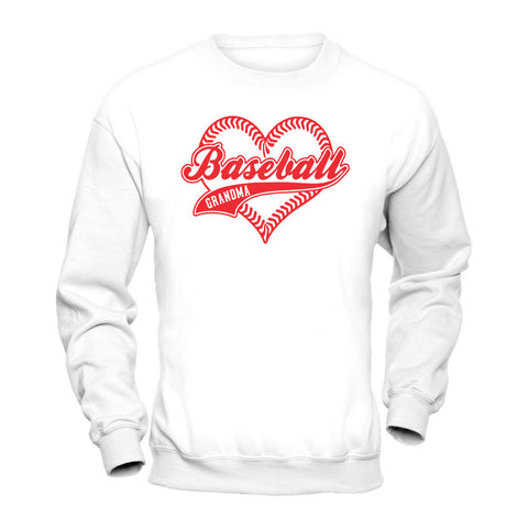Baseball Grandma Heart Long Sleeve and Sweatshirt