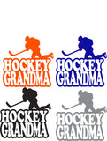 Hockey GRANDMA Car Decal