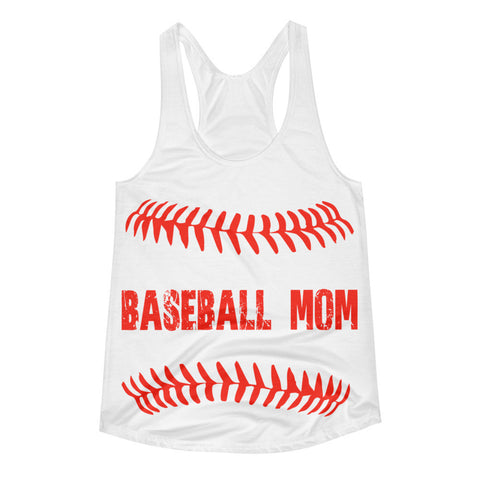 Baseball Mom Baseball Women's Racerback Tank Seams