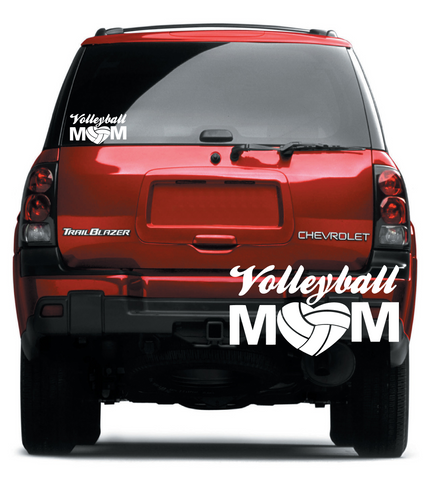 Volleyball Mom Decal (DELIVERED FREE)