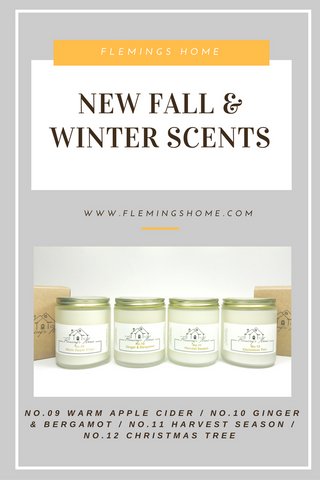 New Scent Release - Fall & Winter Scents