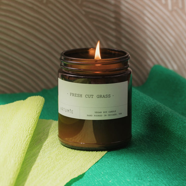 Fresh Cut Grass 9 oz Soy Candle
