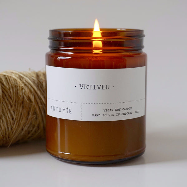 Vetiver 9 oz Soy Candle