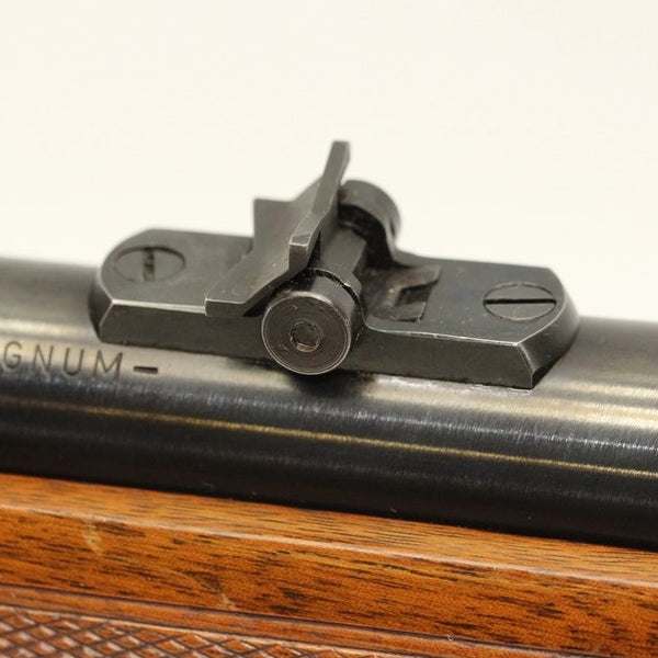 Dual-Folding Leaf Rear Sights for .375 H&H Rifle