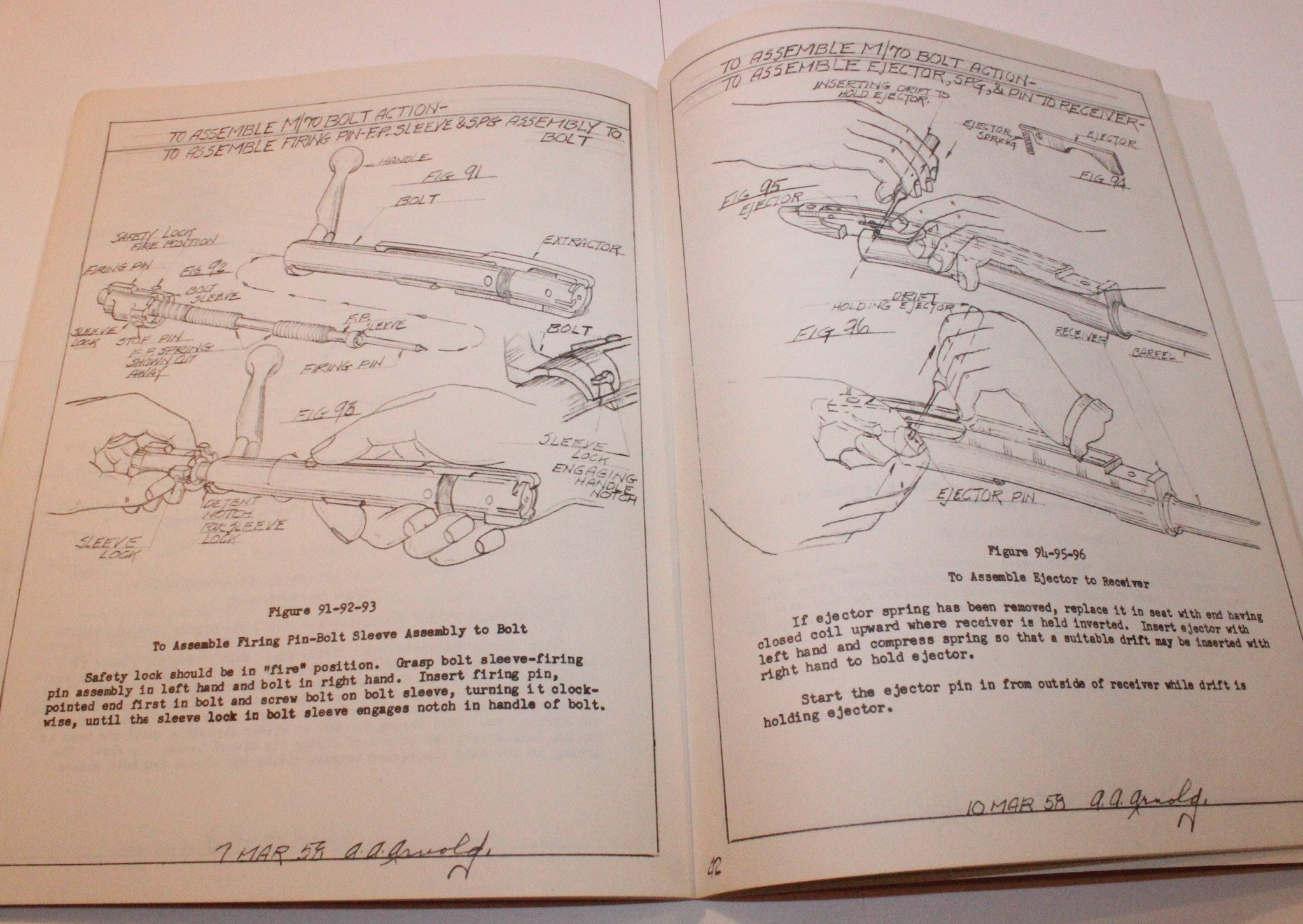 1958 Winchester Model 70 Take-Down and Assembly Operations Manual - REPRINT