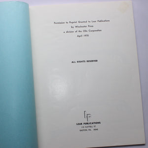 1938 Winchester Sales Manual - VINTAGE REPRINT