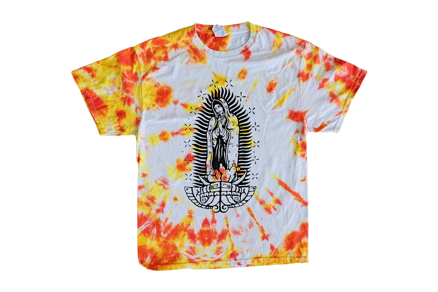 HOT CHEETO Virgencita Vintage Tie Dye Tee