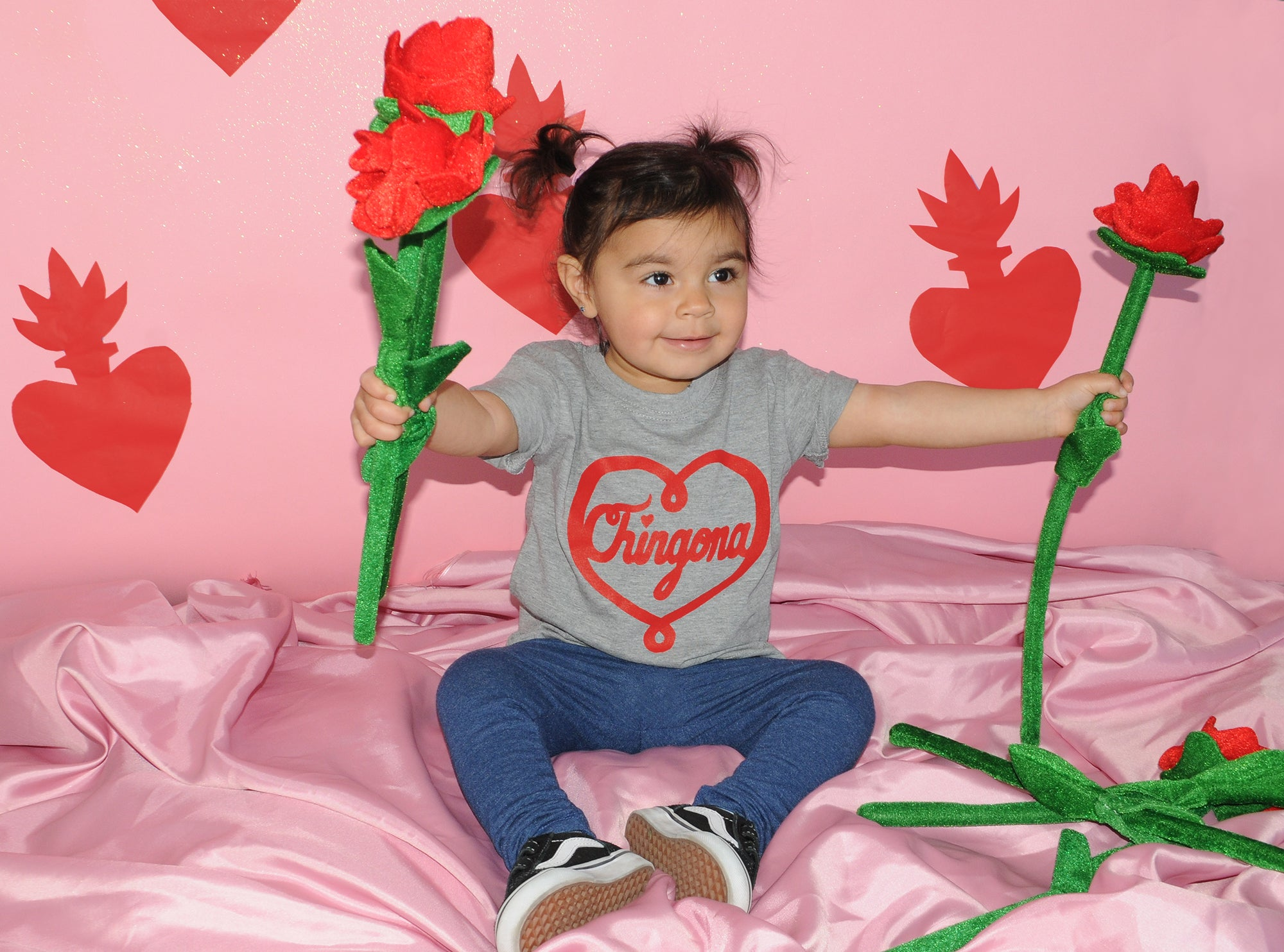 Chingona Heart Kids Tee