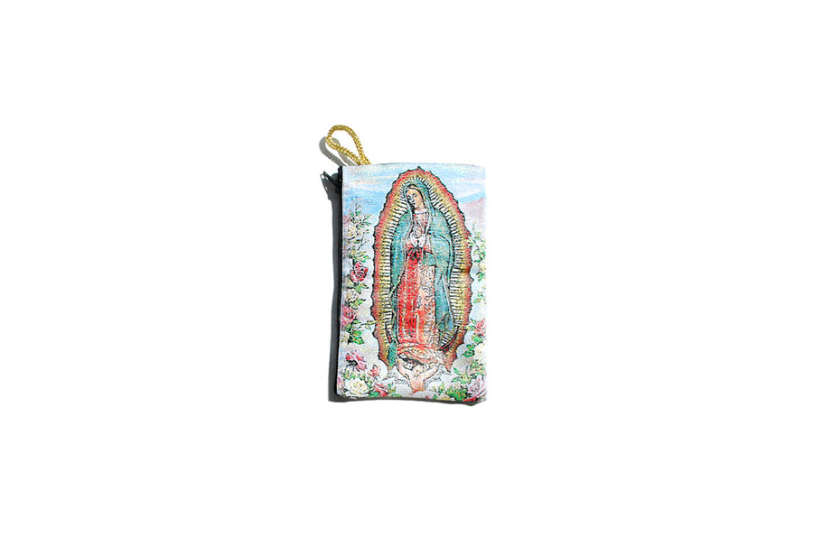 Glitter Virgencita Cielo Makeup Bag